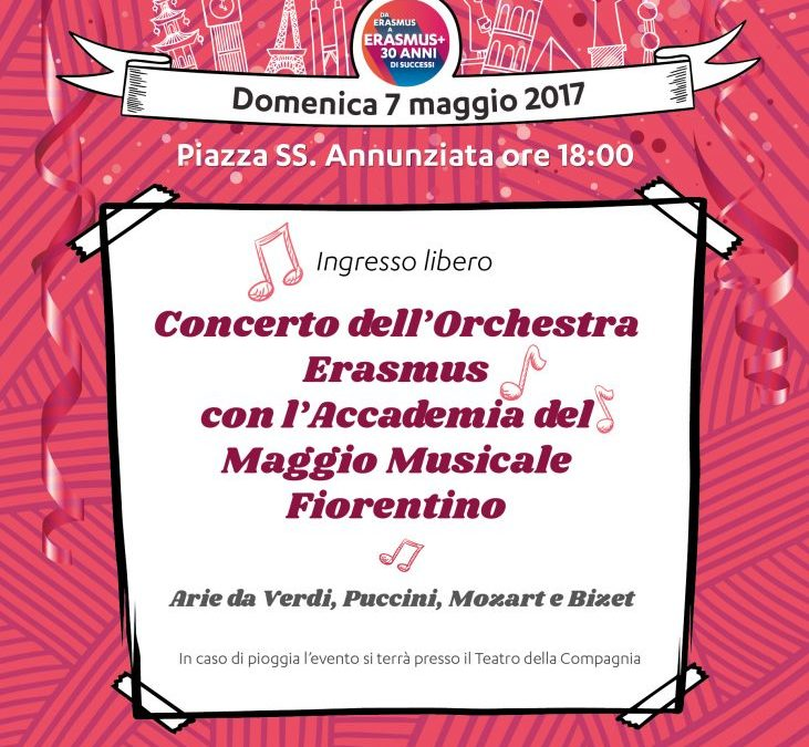 Concerto dell'Orchestra Erasmus con l'Accademia del Maggio Musicale Fiorentino